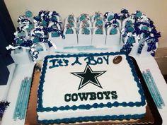 Marvelous Dallas Cowboys Baby Shower Cake !
