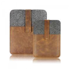 ipad & iPad mini case merinofelt and cowhide leather - VANDEBAG