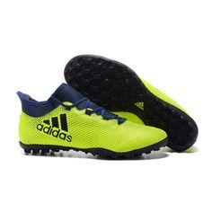 sports shoes e3246 37ded chaussure de foot pour synthétique Adidas X 17.3 TF Verte Noir Bleu achat  en ligne