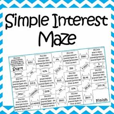 Simple Interest-Total Amount Tarsia Puzzle | Student, Simple and ...