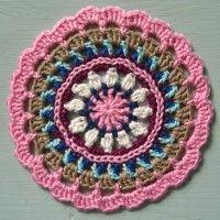 Crochet Mandala Wheel made by Claudia, Germany, for yarndale.co.uk