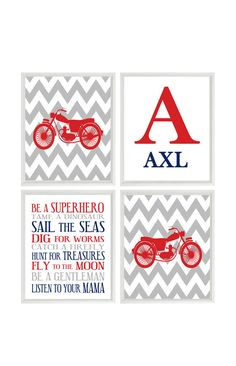 Hey, I found this really awesome Etsy listing at https://www.etsy.com/listing/207874217/motorcycle-nursery-baby-boy-wall-art