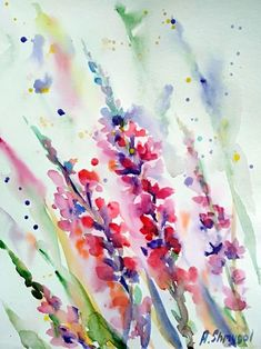 Buy Wild flowers, Watercolor by Alina Shmygol on Artfinder. Discover thousands of other original paintings, prints, sculptures and photography from independent artists.
