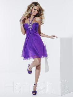 2013 Hannah S 27807 Purple Homecoming Dresses