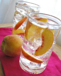 Peach Collins: lemon juice + peaches + vodka + club soda