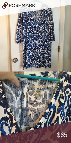 Lilly Pulitzer Cori Dress Cori Dress in Beach Bathers, size large, NWOT (I purchased it this way and it definitely feels unwashed to me) Lilly Pulitzer Dresses