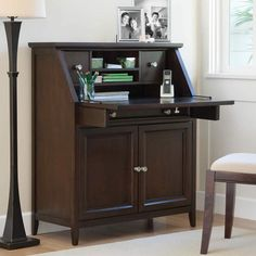 "Drop-Lid Desk - seriously- available at walmart.  37.5"" W x 43"" H x 16"""