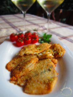 Briciole di Sapori           : Filetti di orata impanati con granella di pistacch...