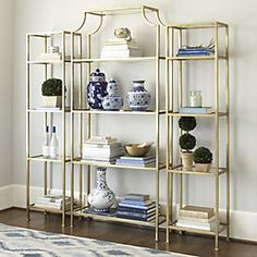 gild shelves always pretty, maybe not practical for office