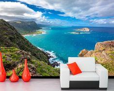 image Bedroom Sofa, Living Room Bedroom, Hawaii, Tv Wand, Cheap Wallpaper, Nature Wallpaper, Home Improvement, Scenery, Coast