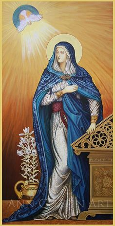 The beginning of our salvation history… 'Annunciation' - Ann Chapin
