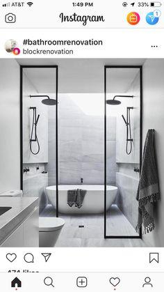 Upstairs Bathrooms, Dream Bathrooms, Master Bathroom, Modern Bathroom Design, Bathroom Interior, Interior Design Living Room, Toilette Design, Steam Showers Bathroom, Bathroom Colors