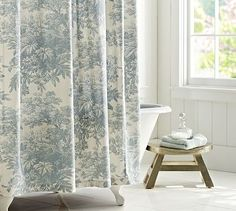 Matine Toile Shower Curtain #potterybarn