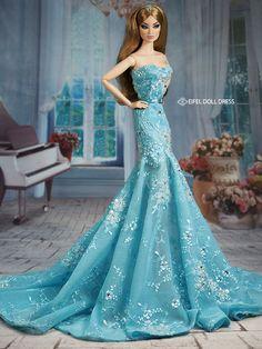 #Barbie #dolls #evening #gowns / eifel 85 / 12.16.3
