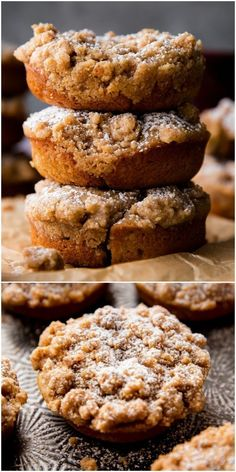 Crumb cake donuts, baked not fried, and HEAVY on the brown sugar cinnamon crumb … – Donut Recipes – Recipe Baked Donut Recipes, Baked Doughnuts, Baking Recipes, Cake Donut Recipe Fried, Donut Muffins, Delicious Donuts, Delicious Desserts, Yummy Food, Köstliche Desserts