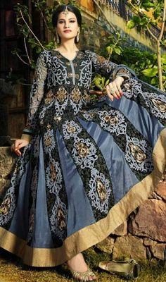 Latest Velvet Embroidered & Chiffon Shalwar Kameez Designs 2015-16 (4)