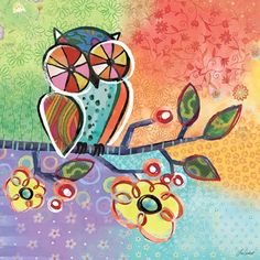 """Charmed Owl"" kids wall décor by Lori Siebert for Oopsy daisy, Fine Art for Kids $119"