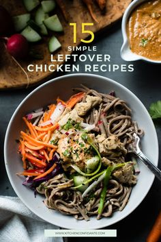 Transform yesterday's leftover chicken into something new and exciting! Here are 15 simple leftover chicken recipes, from pasta and pizza to comforting soups, chilis, and more! leftover chicken recipes // easy leftover chicken recipes // leftover chicken recipe with pasta #leftover #chicken #rotisserie #recipes #kitchenconfidante Chicken Sandwich Recipes, Leftover Chicken Recipes, Easy Chicken Recipes, Pasta Recipes, Dinner Recipes, Sausage Recipes, Chicken Pesto Pizza, Pizza Soup, Tomatillo Chicken