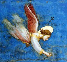 Giotto (Ambrogio Bondone) (Italian artist, 1267-1337) Detail of Joachims Dream. Scrovegni Chapel, Padua, Italy