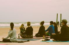 There is POWER in numbers! Have you ever practiced yoga in a large group on the beach? POWERFUL! Brittny, creator of Twin Flame | Yoga Apparel for Your Soul, in a sea of OM's with her supporters! Brittny created this event in Ormond Beach to capture footage for her Kickstarter video for Twin Flame! She hopes to share yoga with all ages. 'In a gentle way, you can shake the World' -Gandhi