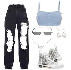 Cute Swag Outfits, Cute Comfy Outfits, Edgy Outfits, Mode Outfits, Retro Outfits, Polyvore Outfits Casual, Teen Fashion Outfits, Look Fashion, Girl Outfits