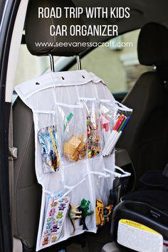 Road Trip Hack: Shoe Holder Turned Car Organizer #RoadTripHacks #Safeway #ad