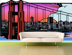 Gaudier city scape wall paper