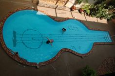 Could make this a violin Swimming pool by adding f-holes -- haha Bianca would be in love!