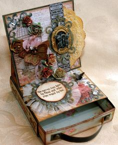 """Candy Creativity is Contagious for Simon Says, """"What I'm Known For..."""", easel card with drawer, tutorial, Jan. 2013"""