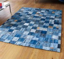Made From 100% Denim Jeans, This Super Modern Blue Rug Is Stunning