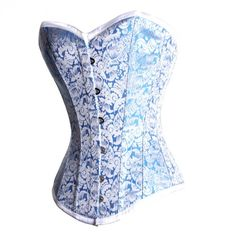 Blue & Silver Corset (Corset Story): A stunning over bust corset, perfect for an hourglass figure.