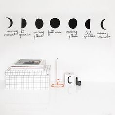 Phases Of The Moon Wall Sticker