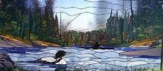 Loon Lake Stained Glass Paned Expressions has some great patterns available. see panedexpressions.com