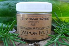 Items similar to Rosemary & Eucalyptus Vapor Rub - 2 oz. Mentholated Chest Rub on Etsy Uses For Vicks, Vicks Vaporub Uses, Chest Rub, Chesty Cough, Decongestant, Natural Medicine, The Balm, Herbalism, Health Tips