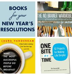 Books and blogs to help you keep your New Year's resolutions. The year's half over: time to revisit your goals!
