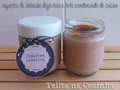 Telita na Cozinha: iogurtes de bolacha digestiva e leite condensado de cacau