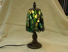 Green Mosaic Lamp Lantern Interior by SleepingNightOwl on Etsy