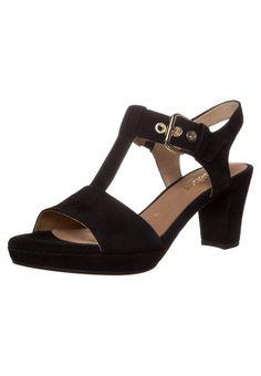 Gabor - Sandalen met plateauzool - schwarz