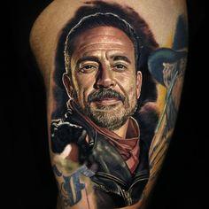 Negan tattoo by Nikko Hurtado