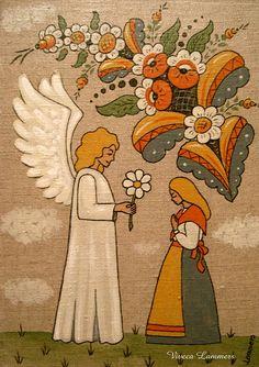 Angel Gabriel and Virgin Mary