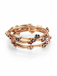 floral crystal bangle set - this is gorgeous (hint, hint - Mother's Day is coming up soon!)
