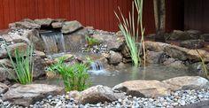 simple koi pond waterfalls   Water Gardens Koi Ponds Waterfalls Pondless Waterfalls Fountains Koi