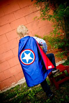 Halloween - Captain America, with a cute little boy spin.