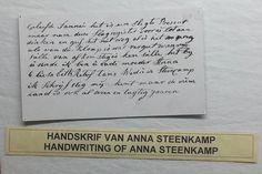 Een originele brief van een van de Voortrekkersvrouwen. Foto: G.J. Koppenaal - 9/10/2014.
