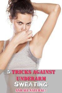 5 Tricks against underarm sweating