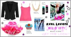Get The Look. Avril Lavigne 'Hello Kitty' Music Video Outfit. Fashion.