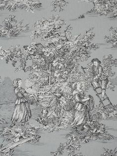 Provence Toile de Jouy Fabric Red scenic country toile de jouy design printed on a cream cotton. Description from pinterest.com. I searched for this on bing.com/images