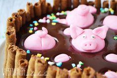 Wiesenknopfschreibselei: Silvestertorte mit Schweinchen oder Death by Chocolate - Cake