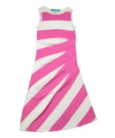 Look at this Pink & White Be Bold Dress - Kids & Tween on #zulily today!