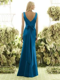 After Six Bridesmaid Style 6550  Back view - shown in Ocean Blue